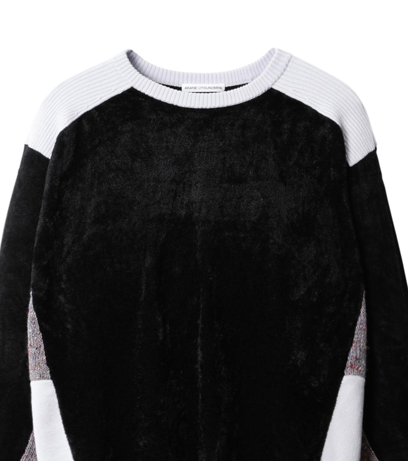 AKANE UTSUNOMIYA(アカネウツノミヤ)のColor Blocked Pullover-BLACK(ニット/knit)-W16FK301013-13 拡大詳細画像2