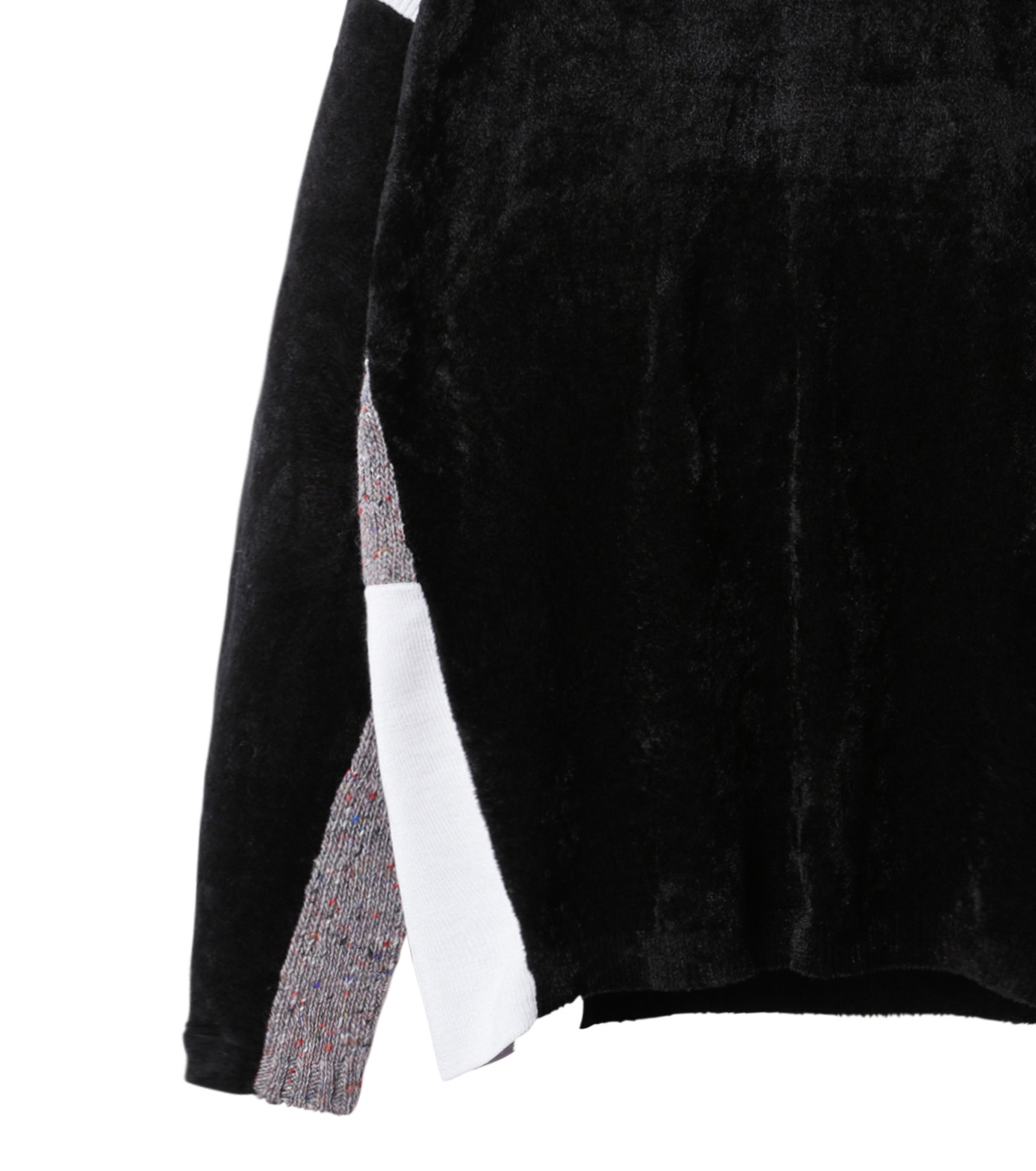 AKANE UTSUNOMIYA(アカネウツノミヤ)のColor Blocked Pullover-BLACK(ニット/knit)-W16FK301013-13 拡大詳細画像3