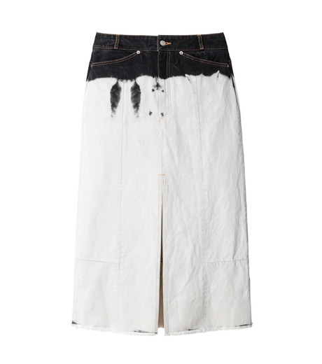 AKANE UTSUNOMIYA(アカネウツノミヤ)のDip Dye Denim Skirt-BLACK(スカート/skirt)-W16FSK383002-13 詳細画像1