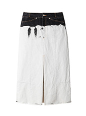 AKANE UTSUNOMIYA(アカネウツノミヤ) Dip Dye Denim Skirt