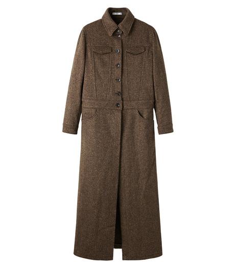 AKANE UTSUNOMIYA(アカネウツノミヤ)のNep Long Shirt Dress-DARK BROWN(ワンピース/one piece)-W16FT513008-43 詳細画像1