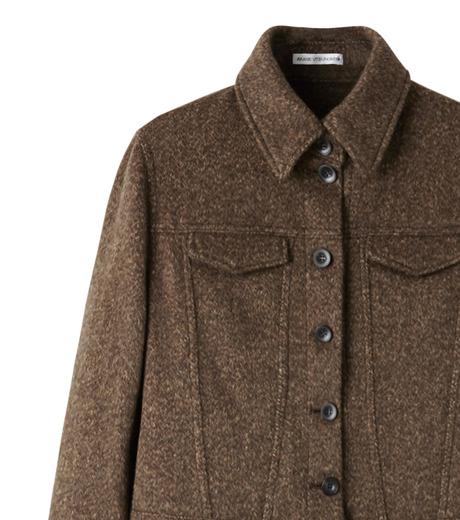 AKANE UTSUNOMIYA(アカネウツノミヤ)のNep Long Shirt Dress-DARK BROWN(ワンピース/one piece)-W16FT513008-43 詳細画像2