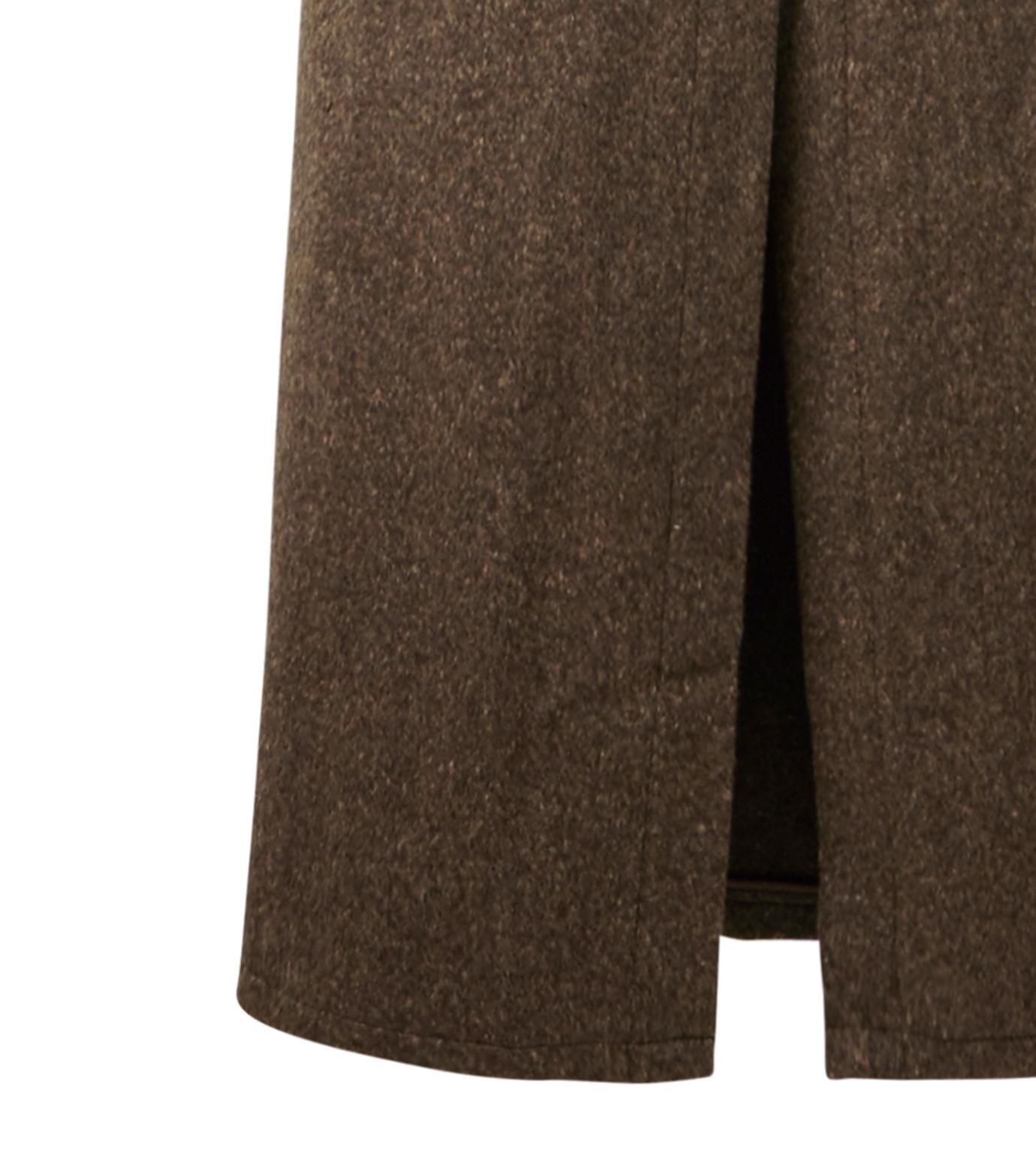 AKANE UTSUNOMIYA(アカネウツノミヤ)のNep Long Shirt Dress-DARK BROWN(ワンピース/one piece)-W16FT513008-43 拡大詳細画像4