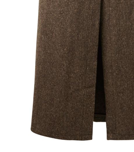 AKANE UTSUNOMIYA(アカネウツノミヤ)のNep Long Shirt Dress-DARK BROWN(ワンピース/one piece)-W16FT513008-43 詳細画像4