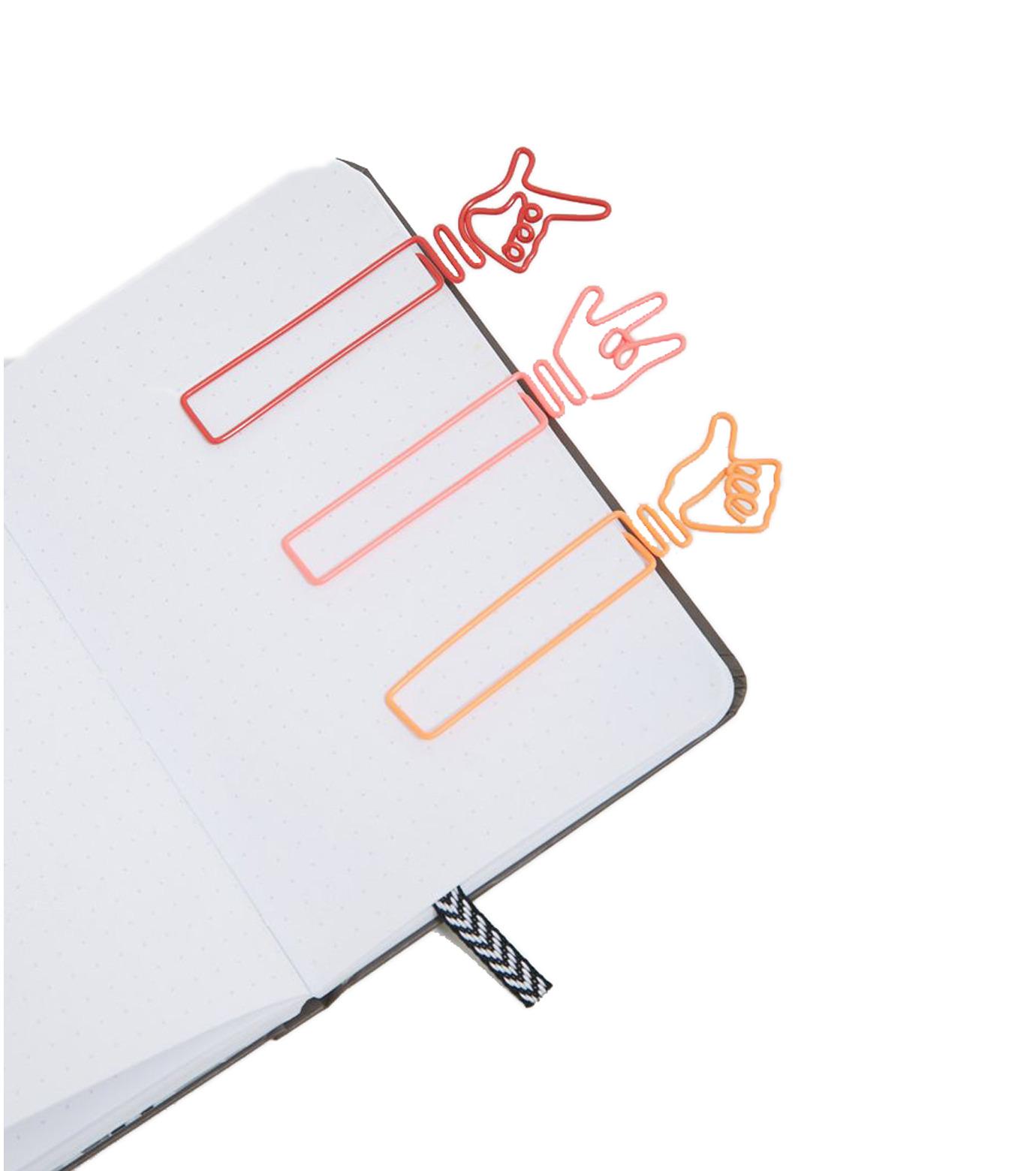 npw()のHandy Bookmark- Hand Signals-BLACK(アザーズ/others)-W5486-13 拡大詳細画像1