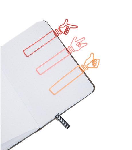 npw()のHandy Bookmark- Hand Signals-BLACK(アザーズ/others)-W5486-13 詳細画像1