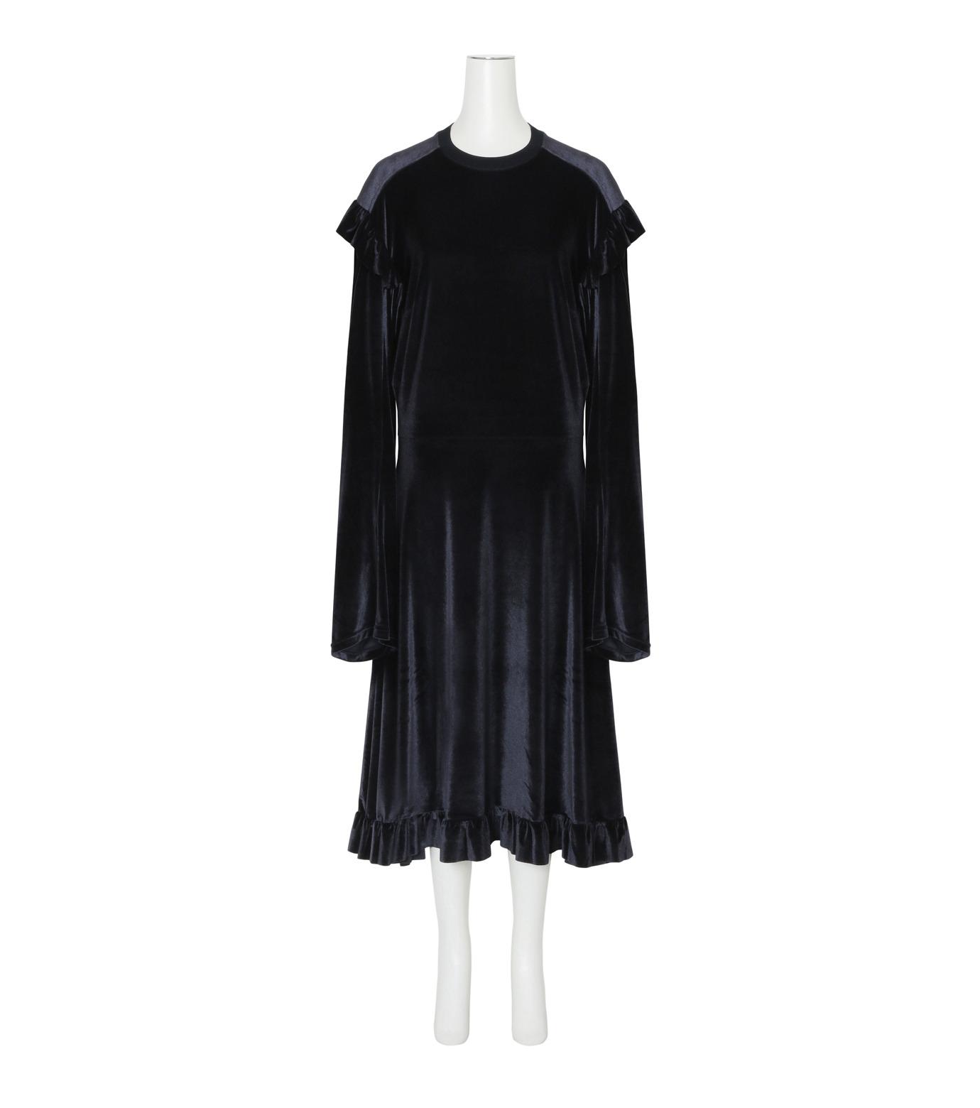 VETEMENTS(ヴェトモン)の70's Dress Velvet-BLACK(ワンピース/one piece)-WF17DR6-13 拡大詳細画像1