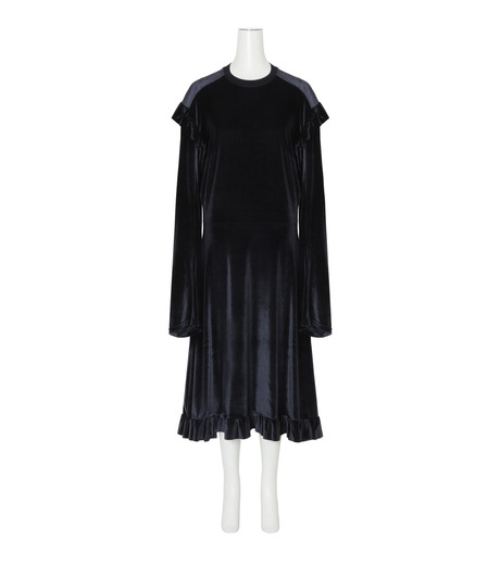 VETEMENTS(ヴェトモン)の70's Dress Velvet-BLACK(ワンピース/one piece)-WF17DR6-13 詳細画像1