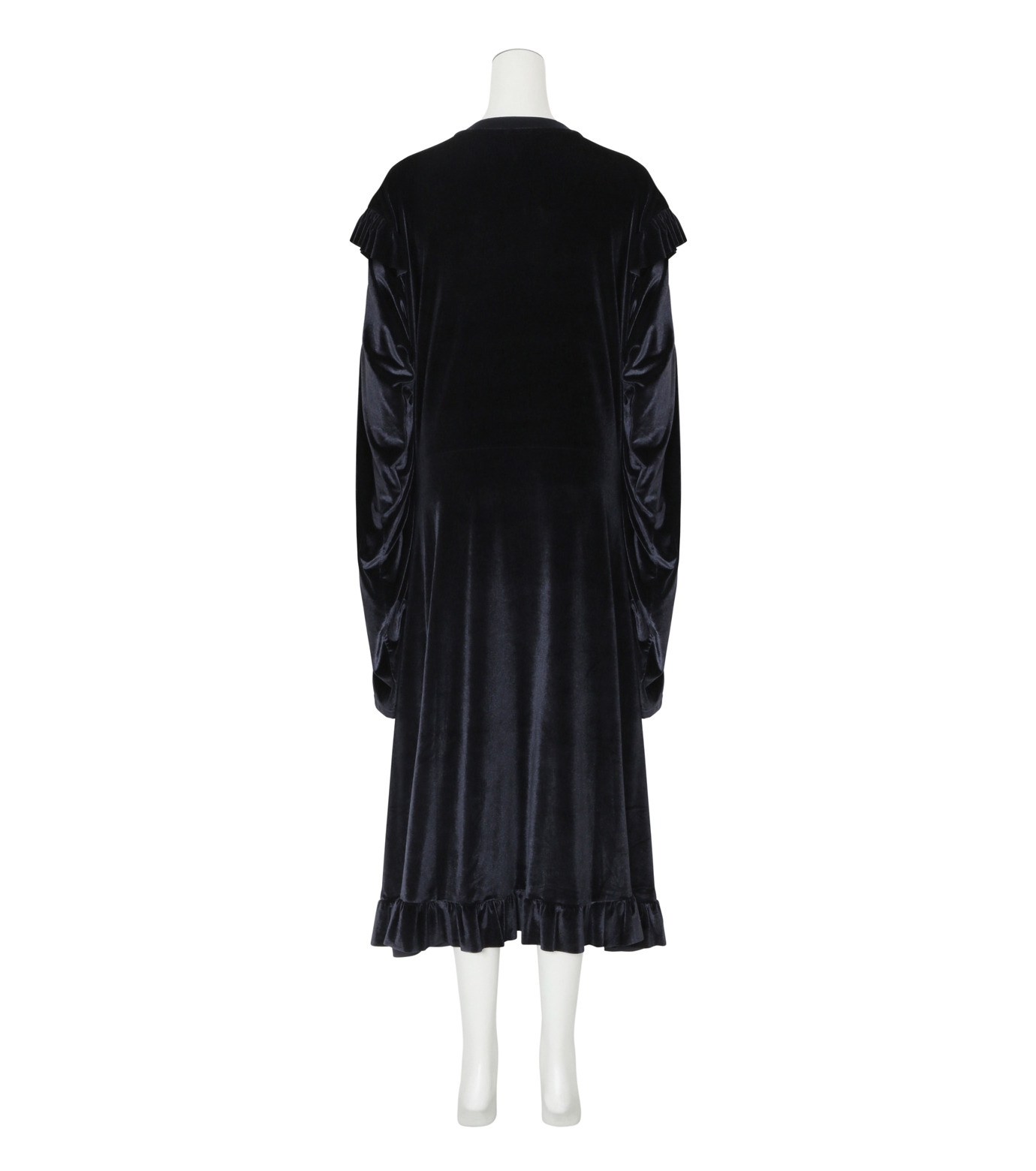 VETEMENTS(ヴェトモン)の70's Dress Velvet-BLACK(ワンピース/one piece)-WF17DR6-13 拡大詳細画像2