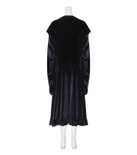 VETEMENTS(ヴェトモン)の70's Dress Velvet-BLACK(ワンピース/one piece)-WF17DR6-13 詳細画像2