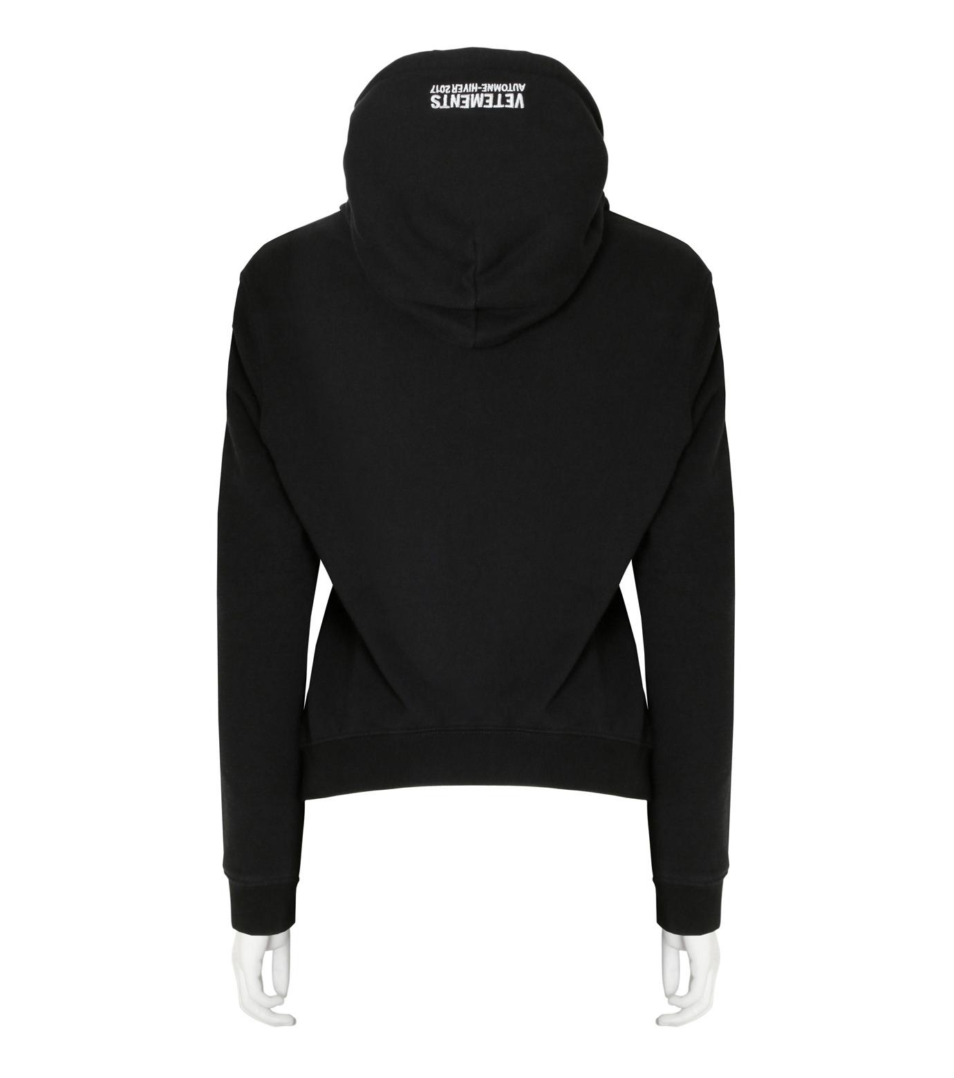 VETEMENTS(ヴェトモン)のShrunk Hoodie-BLACK(カットソー/cut and sewn)-WF17TP15-13 拡大詳細画像2