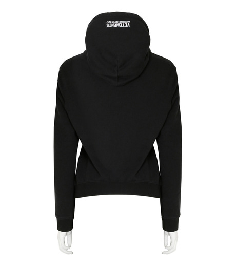 VETEMENTS(ヴェトモン)のShrunk Hoodie-BLACK(カットソー/cut and sewn)-WF17TP15-13 詳細画像2