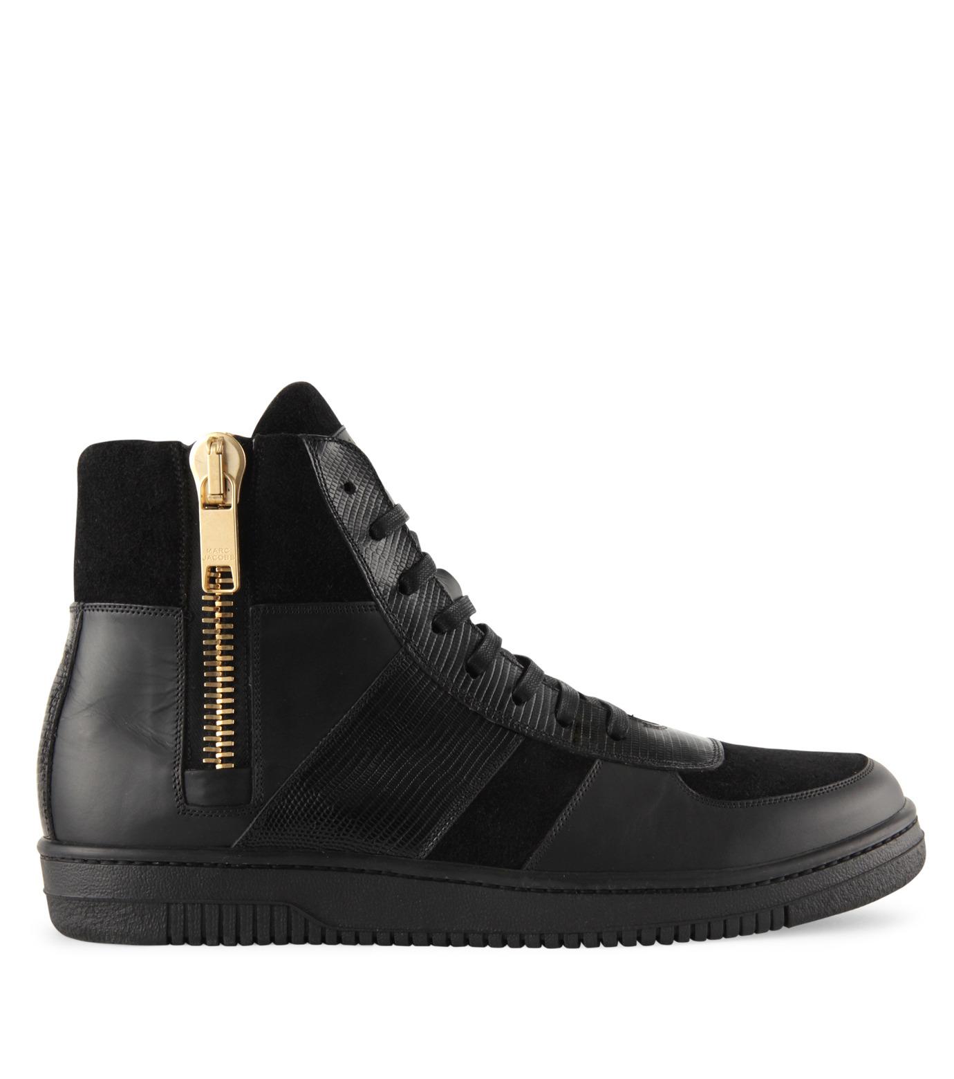 Marc Jacobs(マーク ジェイコブス)のSide zip sneaker-BLACK-WS0076-13 拡大詳細画像1