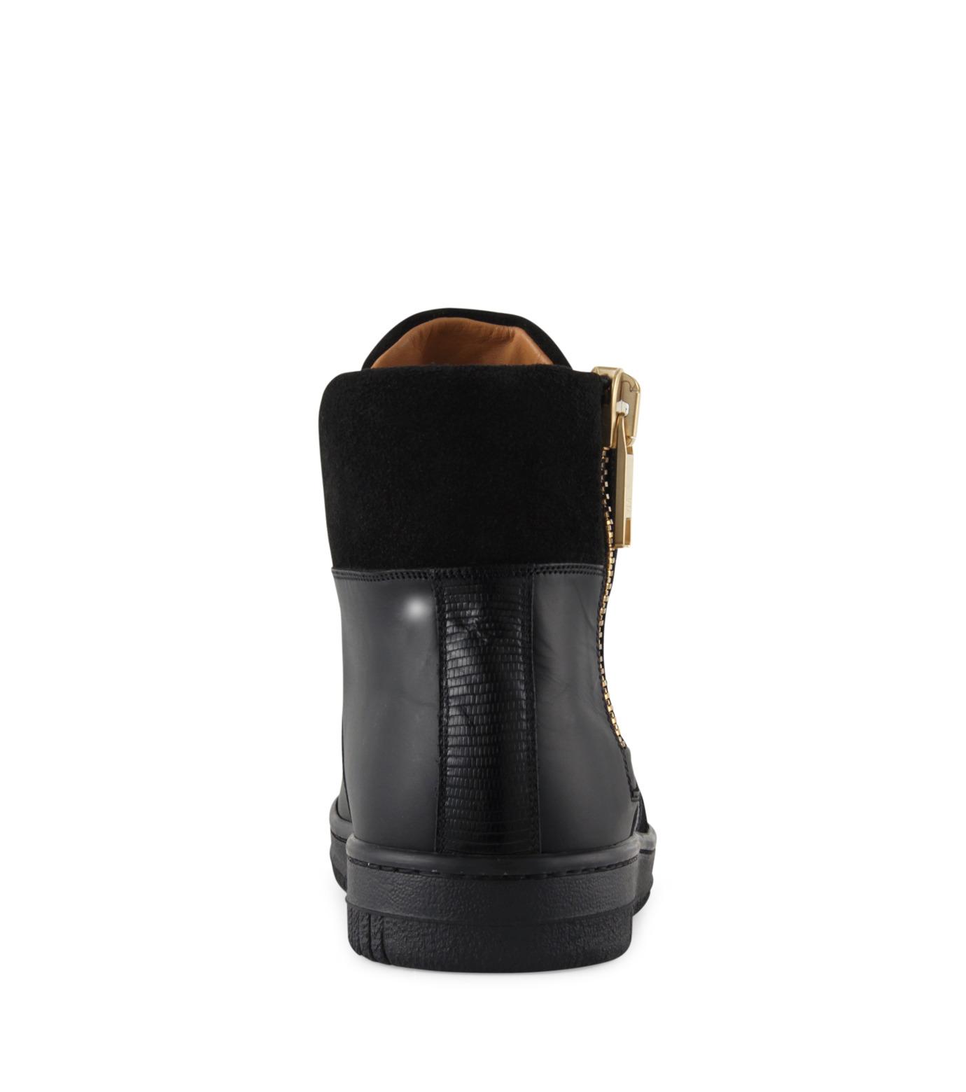 Marc Jacobs(マーク ジェイコブス)のSide zip sneaker-BLACK-WS0076-13 拡大詳細画像3
