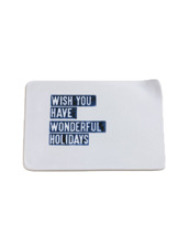 table wear closet Christmas Letter Plate-wish you have wonderful holiday-clear