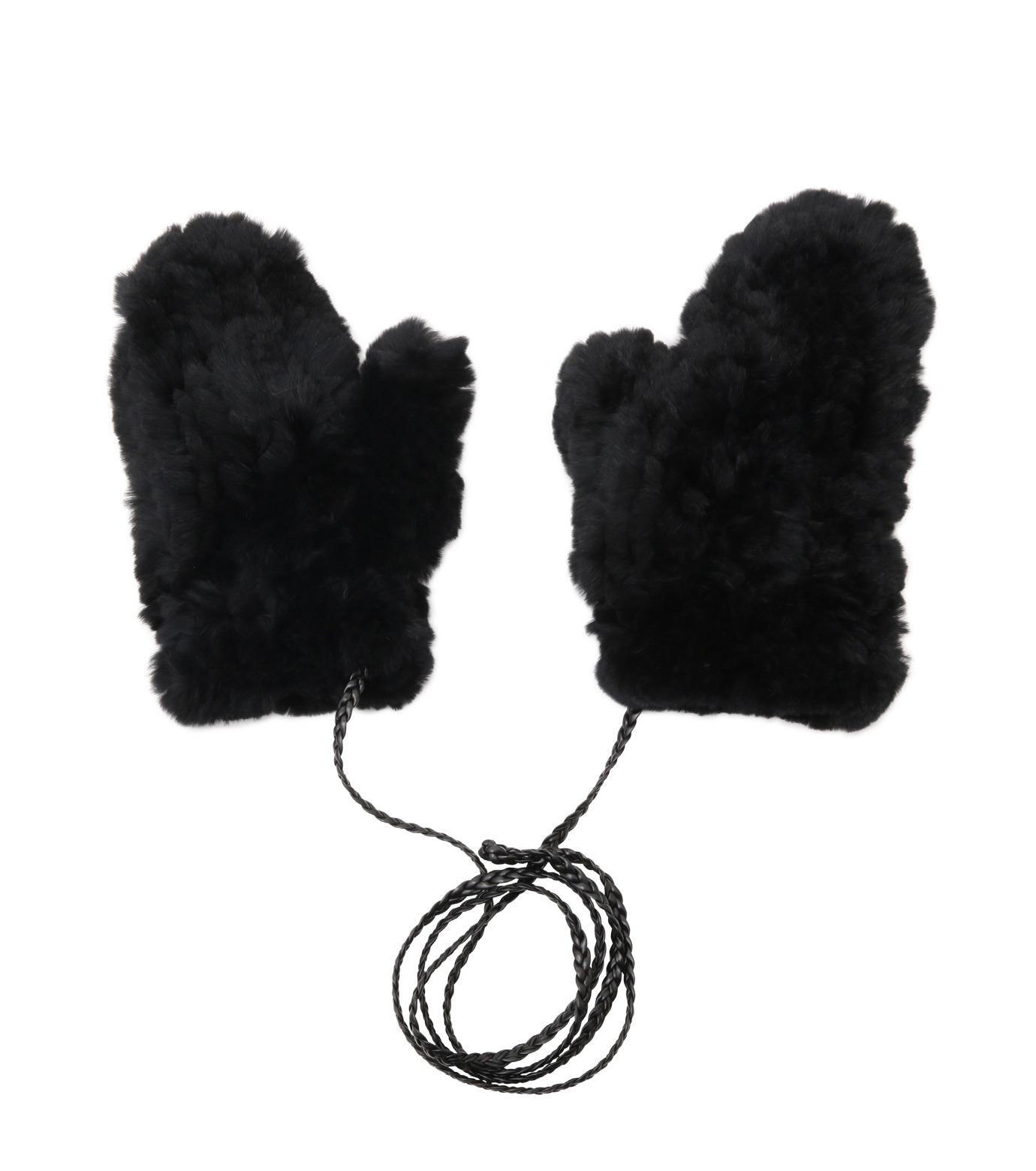 Yves Salomon(イヴ サロモン)のMitten-BLACK(アクセサリー/accessory)-Y5852XXKRE-13 拡大詳細画像1