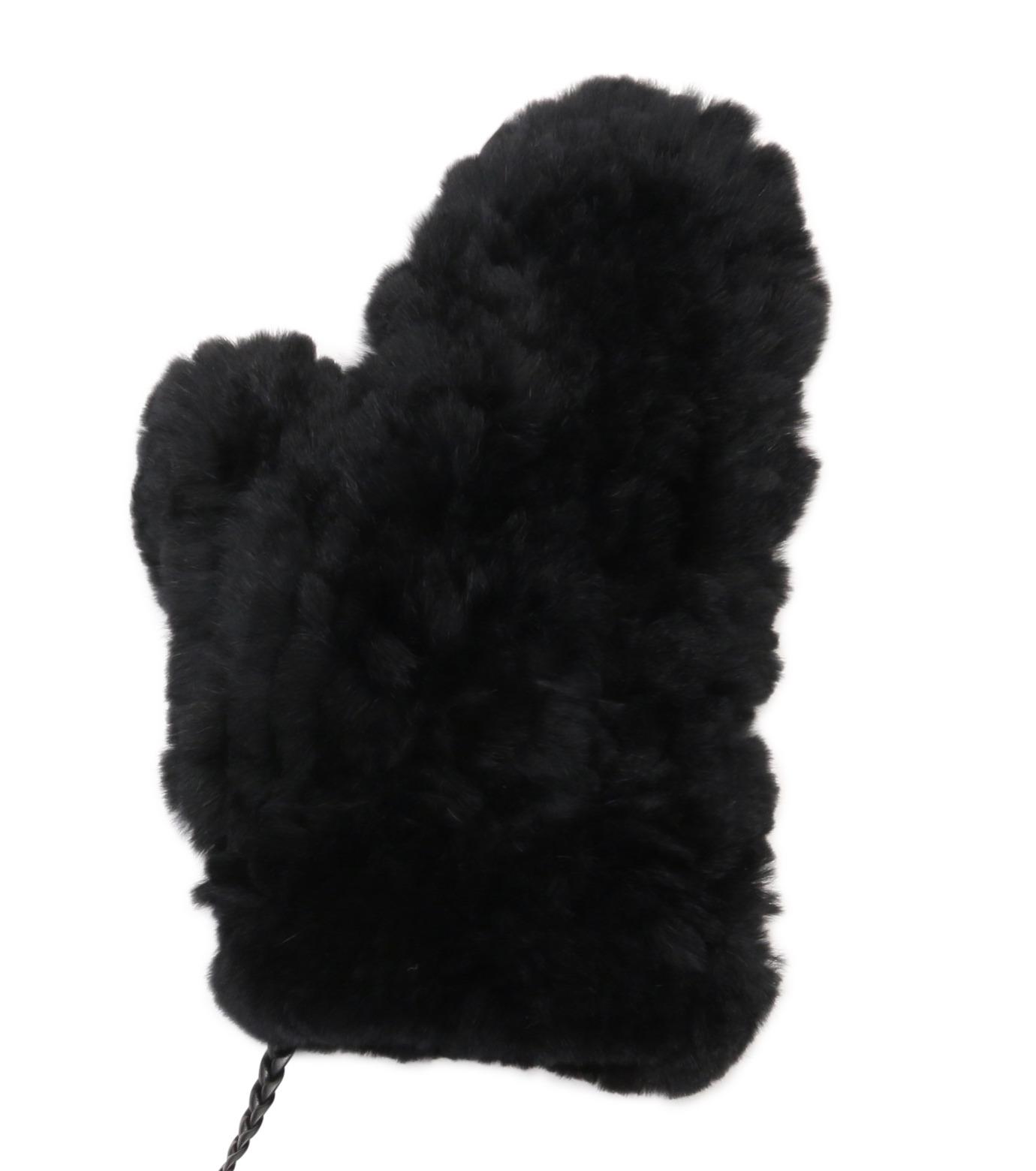 Yves Salomon(イヴ サロモン)のMitten-BLACK(アクセサリー/accessory)-Y5852XXKRE-13 拡大詳細画像2