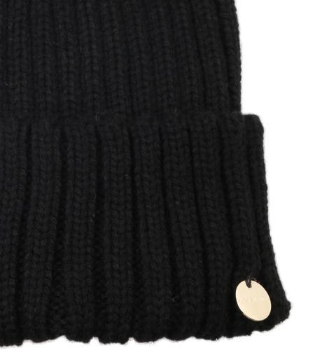 Yves Salomon(イヴ サロモン)のKnit Cap w/Marmotte Fur-BLACK(キャップ/cap)-Y5982XXFCA-13 詳細画像3