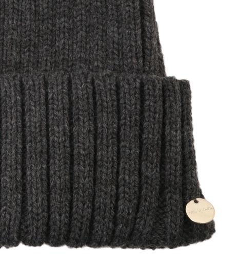 Yves Salomon(イヴ サロモン)のKnit Cap w/Marmotte Fur-YELLOW(キャップ/cap)-Y5982XXFCA-32 詳細画像3