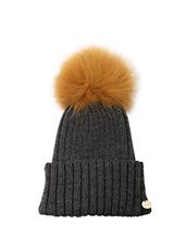 Yves Salomon(イヴ サロモン) Knit Cap w/Marmotte Fur