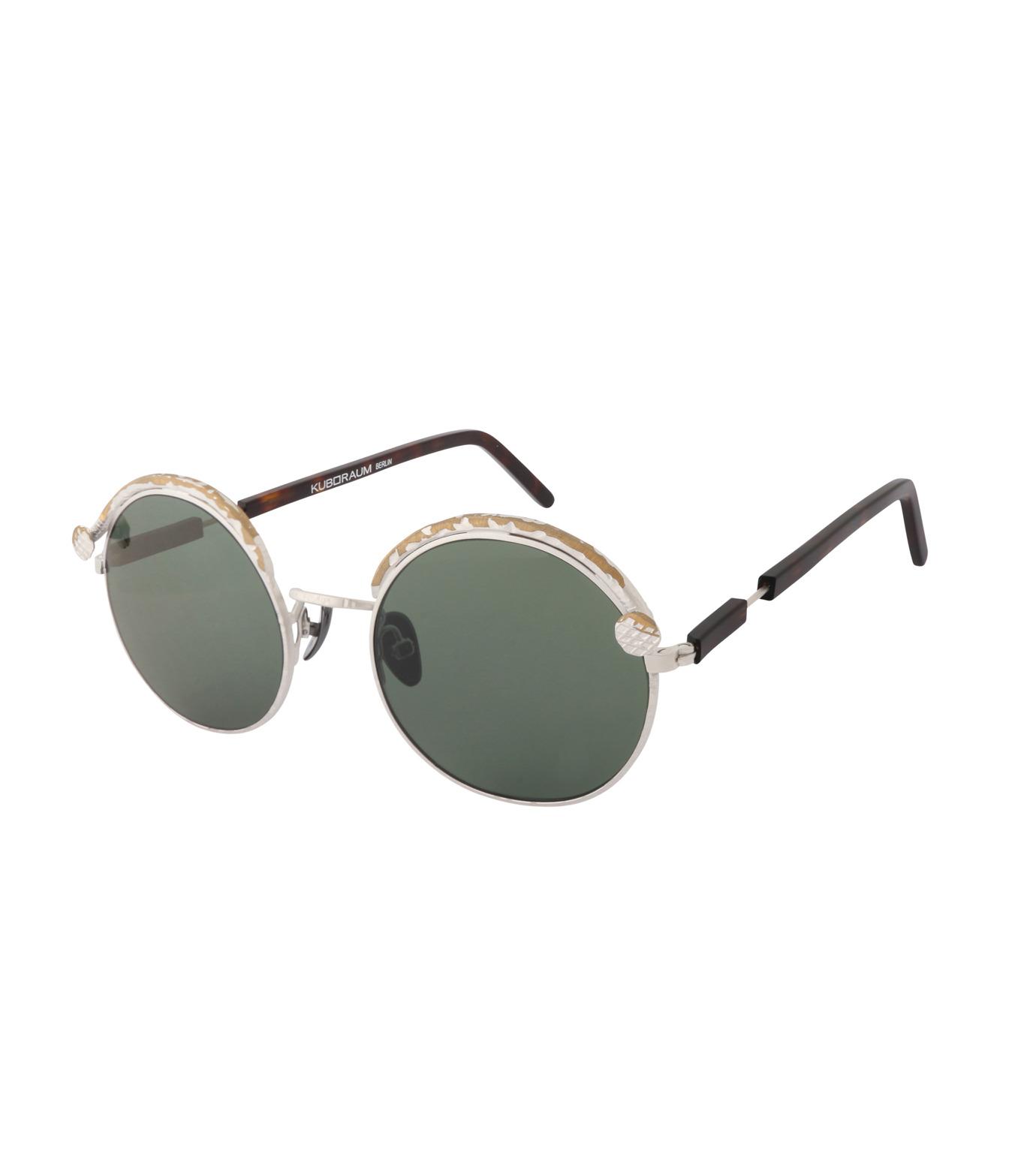 KUBORAUM()のTortoise Shine-SILVER(アイウェア/eyewear)-Z1-TS-1 拡大詳細画像1