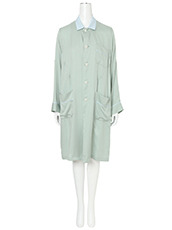 Facetasm(ファセッタズム) Bi-color Collar Long Shirt