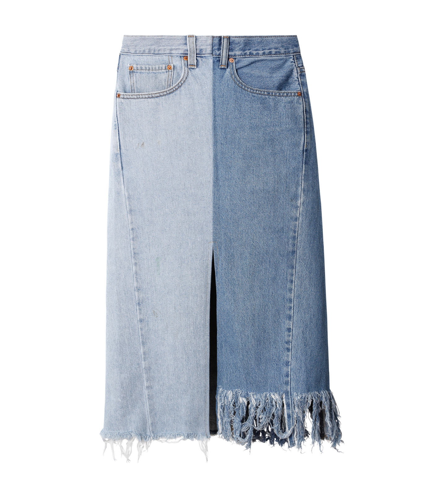 77circa(77サーカ)のFringe Denim Skirt-INDIGO(スカート/skirt)-cc16ss-49-94 拡大詳細画像1