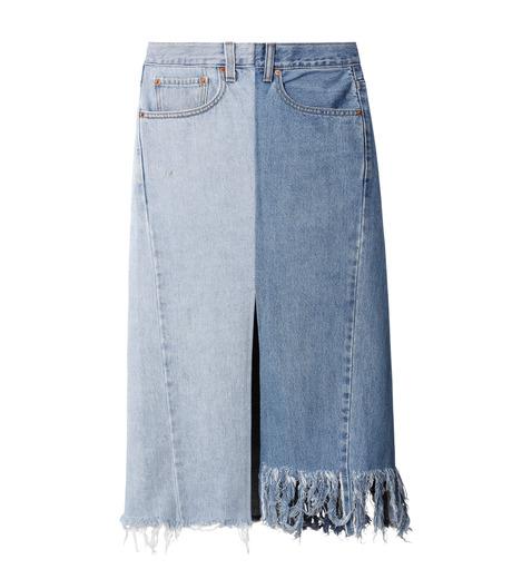 77circa(77サーカ)のFringe Denim Skirt-INDIGO(スカート/skirt)-cc16ss-49-94 詳細画像1