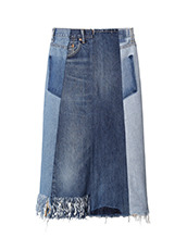 77circa(77サーカ) Fringe Denim Skirt