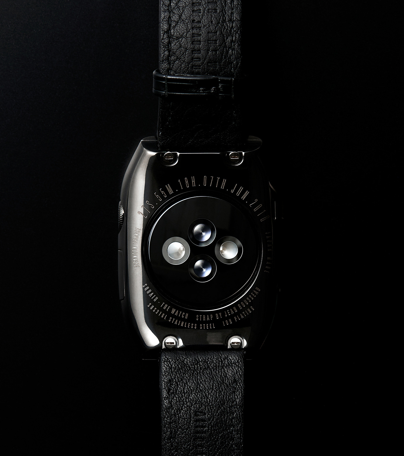 SQUAIR(スクエア)のTHE WATCH 38mm-BLACK(ガジェット/gadgets)-thewatch-38-13 拡大詳細画像9